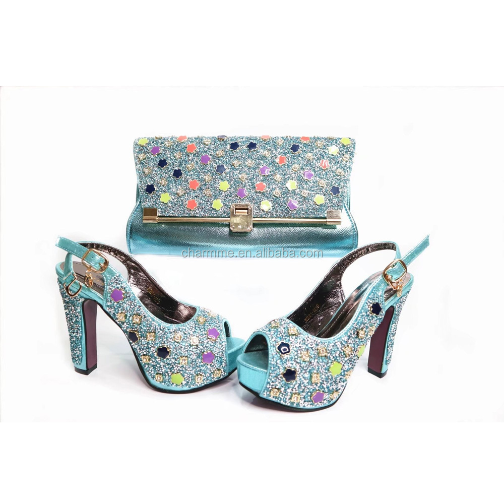 nice matching design stones bag shoes bag set shoes women's 2017Hot italian with and sell italy 8qIxR0