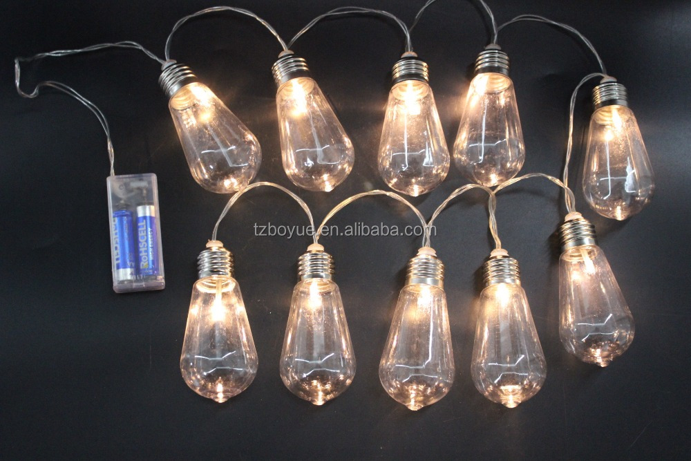 New S Battery Operated Led Edison Bulb Hanging Fairy String Light Micro Decorative Mini Lights
