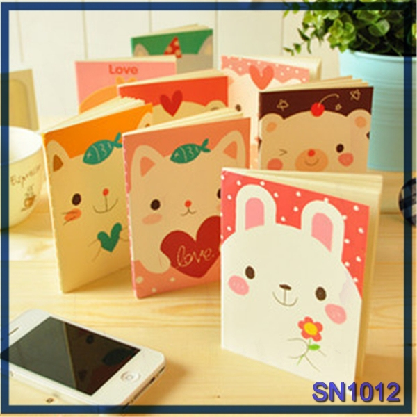 top selling stationery personalized binder cute animal wholesale pocket notebook