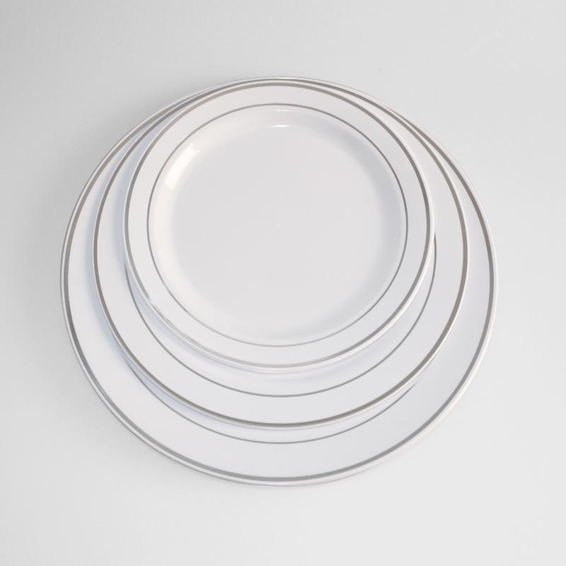 Sc 1 St Alibaba  sc 1 st  pezcame.com & Silver Rimmed Plastic Plates \u0026 Clear With Silver Diamond Rim Plastic ...