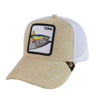 Fashionable Custom 3D Embroidered Patch Animal Mesh Trucker Baseball Cap Hat