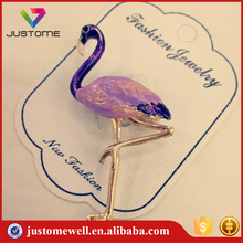 Fashion Crane Alloy Brooches Design Enamel Antique Brooches Pin For Ladies