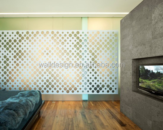 Cnc Cutting Decorative Metal Screen Patterns Used For Room Dividers