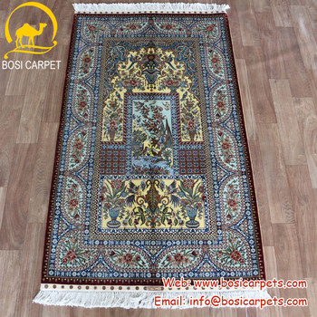3x5ft Competitive price offer various shape persian silk carpet qum carpet 100% silk