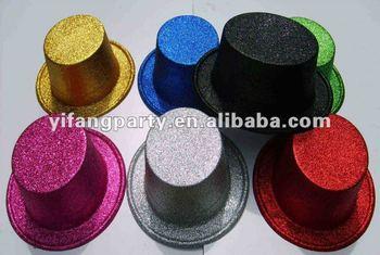 Plástico Brillo Sombrero De Copa - Buy Glitter Top Hat a6b53970d3f