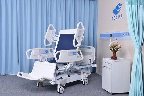 AG-BR001 patient adjustable intensive care hospital intelligent 8 function ICU bed