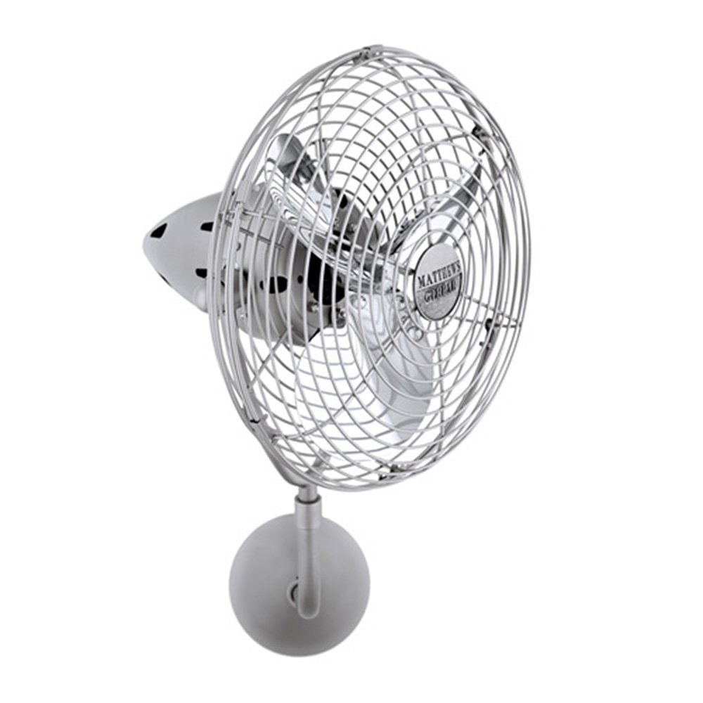 Matthews Fan Company BP-CR-MTL Wall Fan, Chrome Finish
