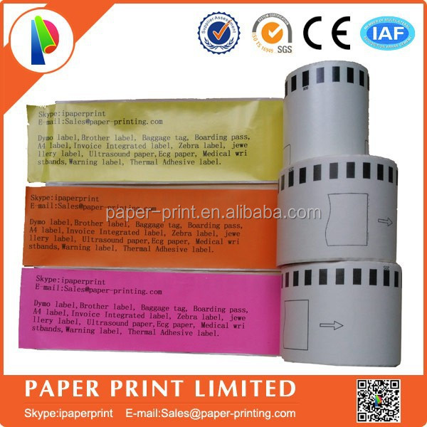 any color thermal paper roll 22205 ETICHETTE COMPATIBILI 62mm CONTINUO BROTHER QL500 QL570 DK22205