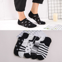 2019 cotton print short invisible socks new arrival spring navy style high quality men's socks