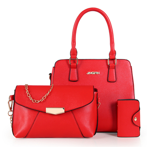 2018 Online sell top 10 new style lady 3 pcs set bags fashion latest ladies women handbags set