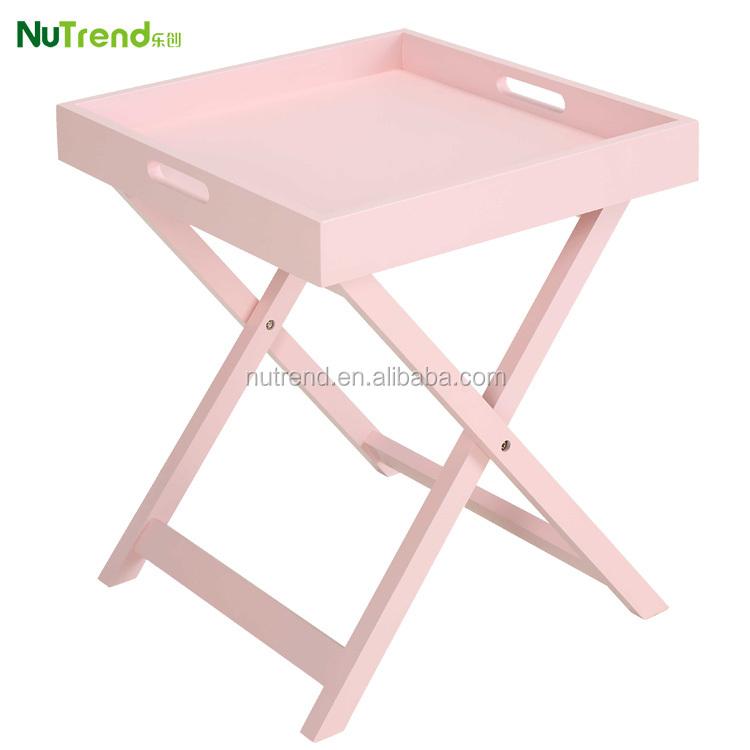 Madera peque a porci n mesa bandeja plegable mesas de caf identificaci n del producto - Mesa plegable pequena ...