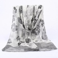 Factory direct wholesale printed pashminas bufandas hijab floral polyester scarf women