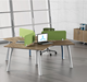 Professional work station desk modern office partition 3 person workstation Office Project customized