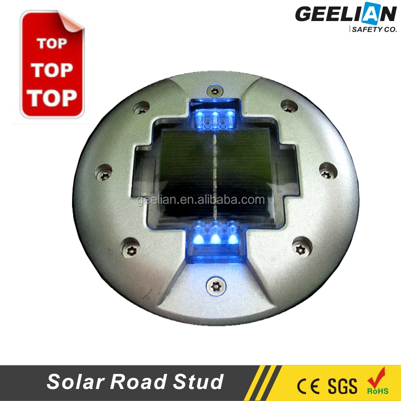 Geelian Brand Traffic Safety IP68 Motorway aluminium road studs led cat eyes Best Reflective Solar Road Light Stud Price