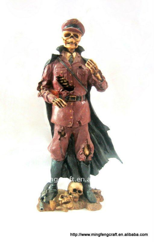 Polyresin Pirate Figurine For Halloween Decoration Craft