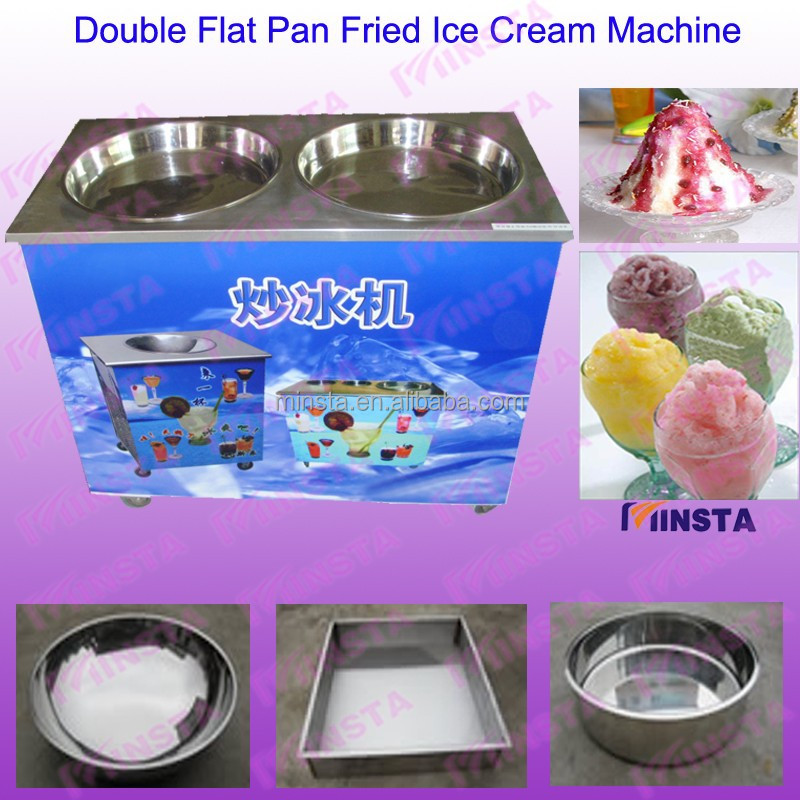 strawberry frozen yogurt fried ice cream machine for ice cream store