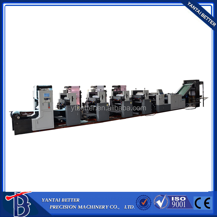 Full color book digital press printer 4 colour offset printing machine roll to roll