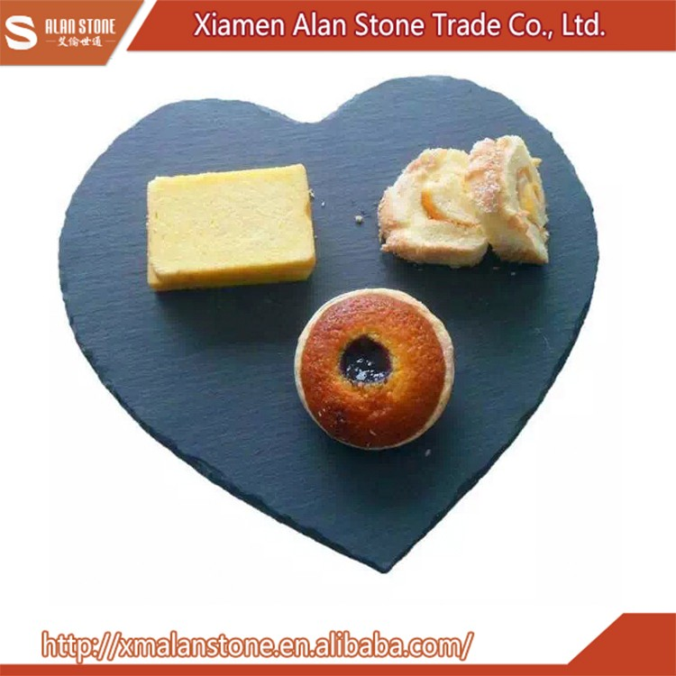heart-shaped slate cheese board stone plate