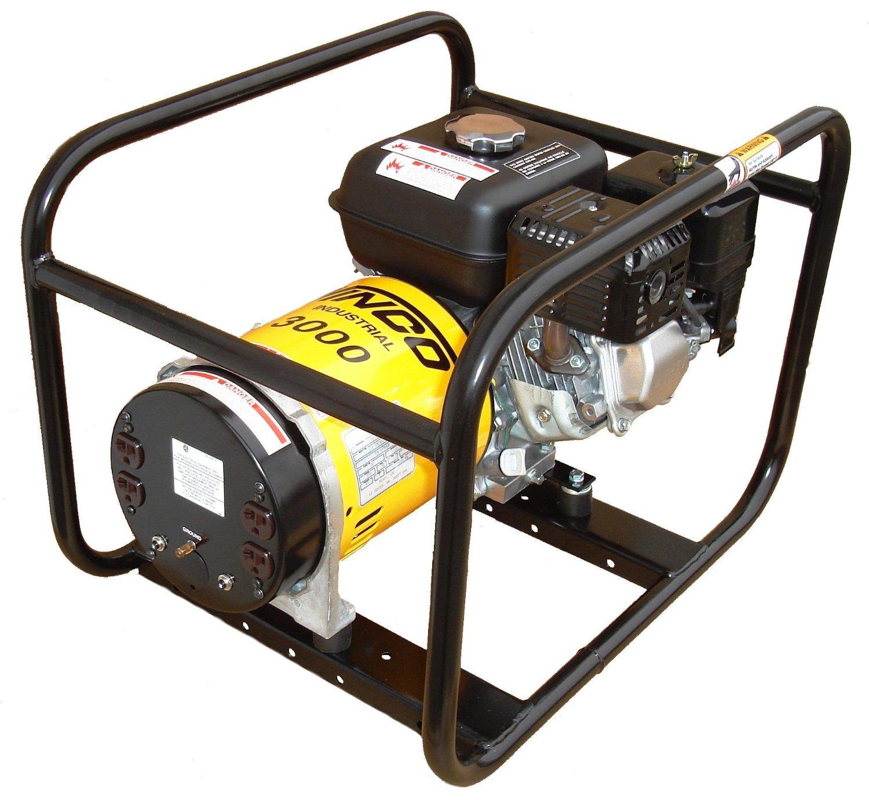Winco WT3000H Industrial Portable Generator, 3,000W Maximum, 102 lb.