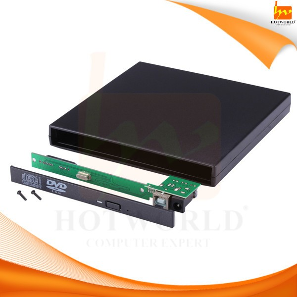External Case Enclosure For Sata Laptop Dvd Rom