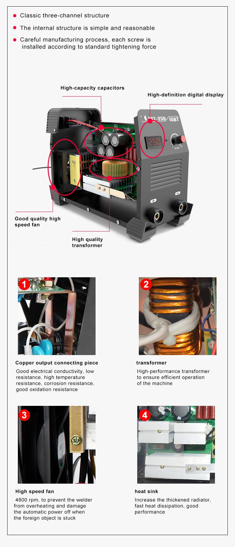 DC Inverter 250 Amp Inverter DC Saldatrice Ad Arco/MMA di Saldatura Macchina