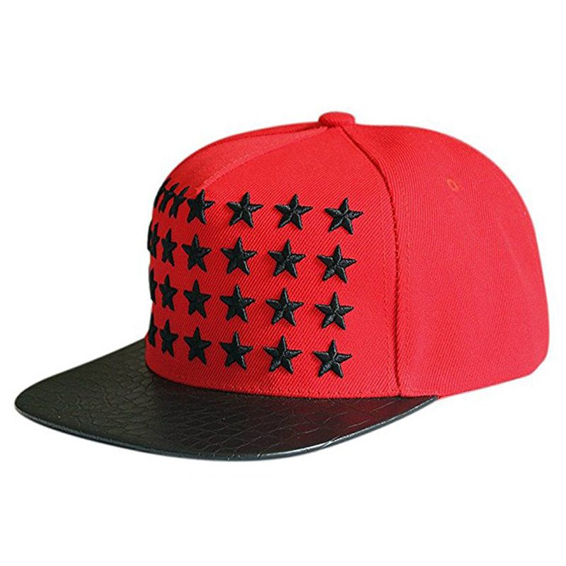 Custom Black Leather Snapback Hat Wholesale / Leather Snapback