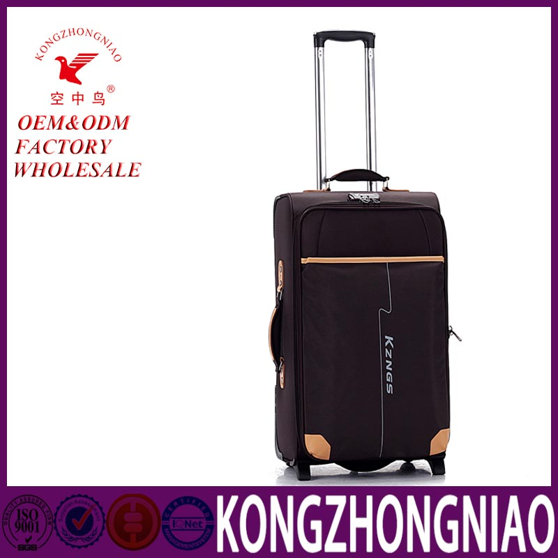 2016 China supplier top brand laptop bag trolley deep elegant style eva luggage case 20 inch trolley suitcase