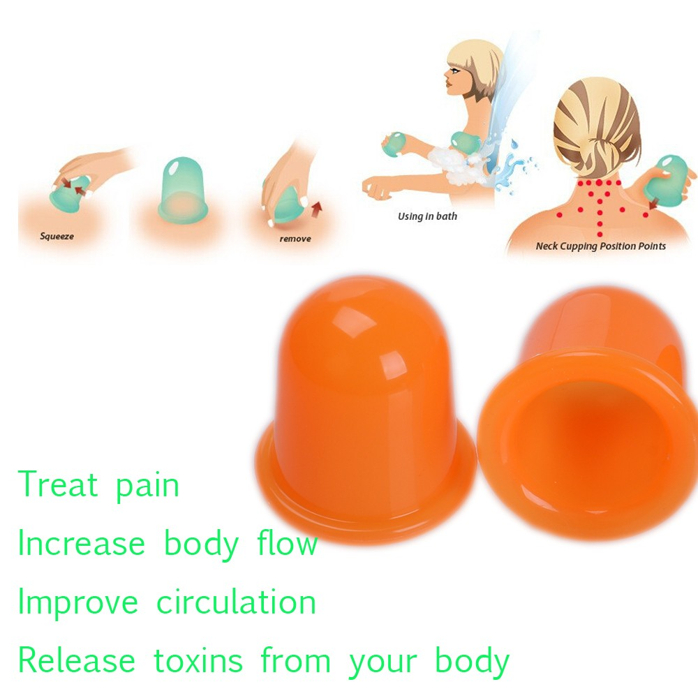 Health Care Body Cup Anti Cellulite Silicone Vacuum Massage Cups