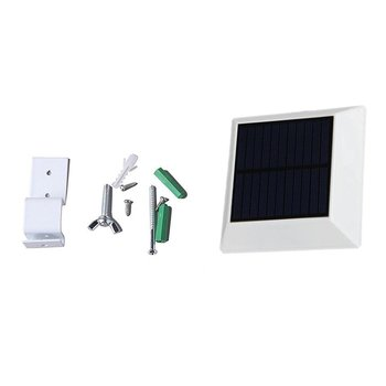 6 LED Solar Powered Lighting Outdoor IP44 Garden Security Gutter Fence Lights