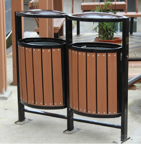 cheap trash can Wood plastic composite dustbin