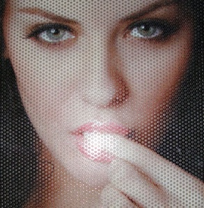 self adhesive vinyl/window covering one way vision see through fabric