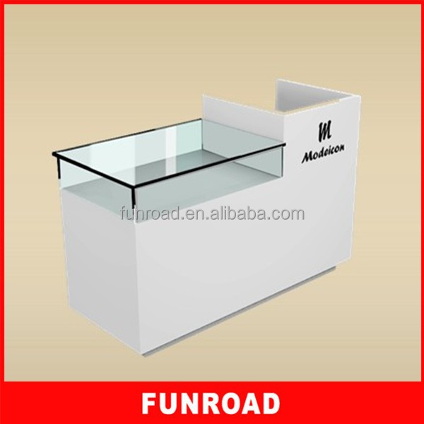 Reasonable price plywood retail store checkout table for hot sale