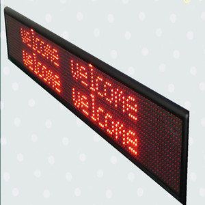 Messages outdoor led moving message display sign/programmable led moving  signs/single color LED programmable sign display board