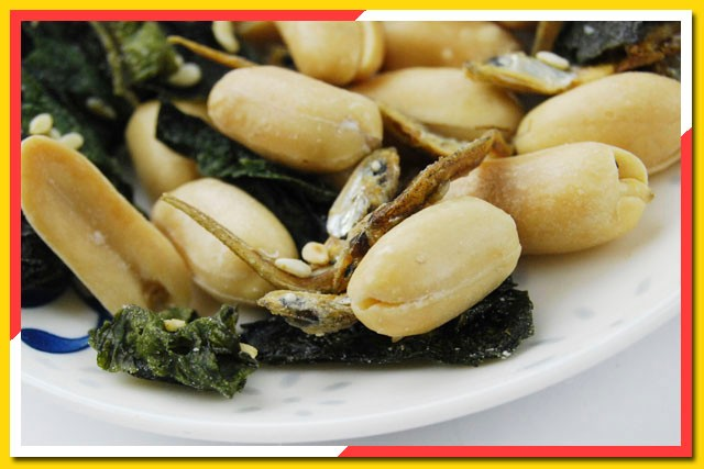 dried fish blanched peanut