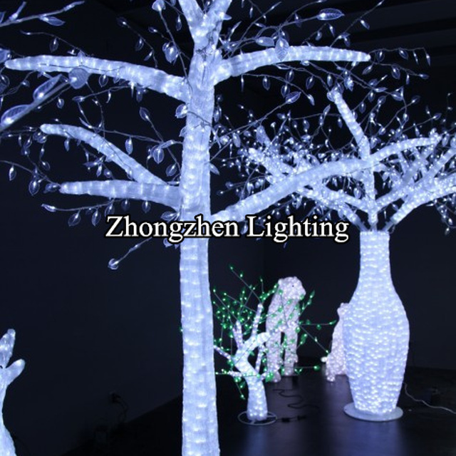 outdoor light up led clear acrylic tower christmas tree