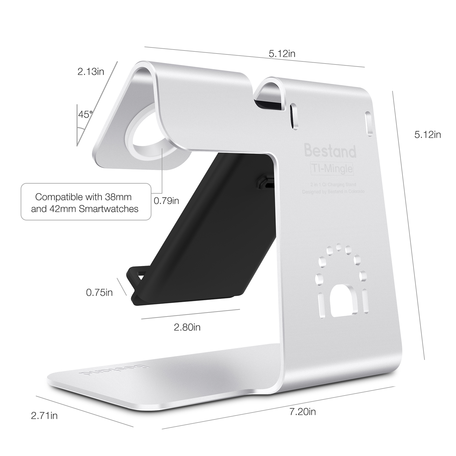Wireless charging station for phone iPhone X 8 Plus and apple watch