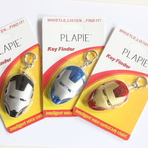 Locator Find Lost Keys Chain Keychain Sound Control The new iron man a whistle key finder