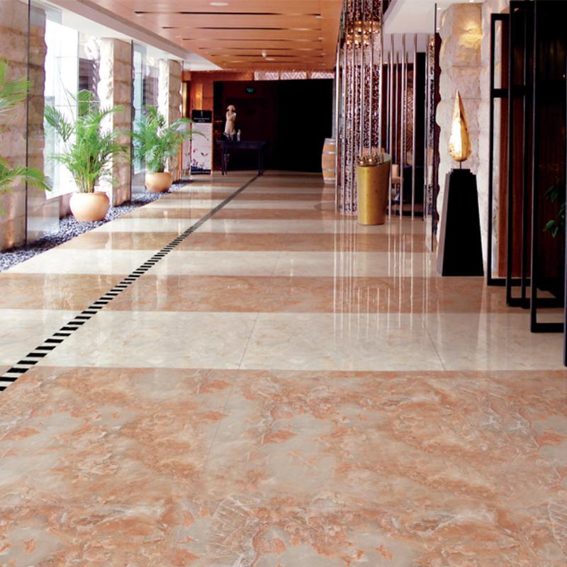 Hs653gn Factory Porcelain Pink Marble Floor Tile