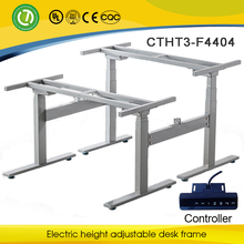 Germany The Best Sale electric height adjustable corner office desk frame with 4 Electric motor for 2 people, Chinese supplier