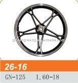 GN-125 chrome motorcycle rims 1.60-18