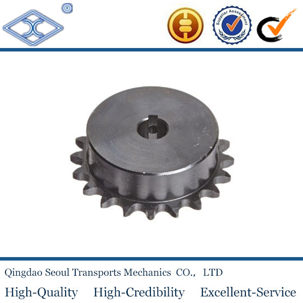 "DIN standard harden teeth with hub finished bore roller chain sprocket 1/2"" x 5/16"" for 08B-1"
