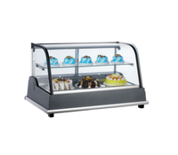 100L To 160L Hot Sale Beverage Freezer Fridge Showcase Bakery Glass Cake Display Counter Commercial Refrigerator
