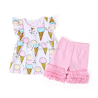 children boutique clothing short ruffle outfit wholesale boutique baby clothes set