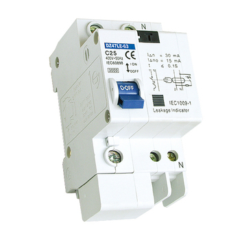 DZ47LE-63 Residual Current Circuit Breaker RCD 1P+N 2P 3P 3P+N 4P 230V 400V 30mA 50mA 100mA 300mA DZ47LE Residual Current Device