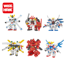 Wise Hawk most popular plastic building block tiny gundam model kits