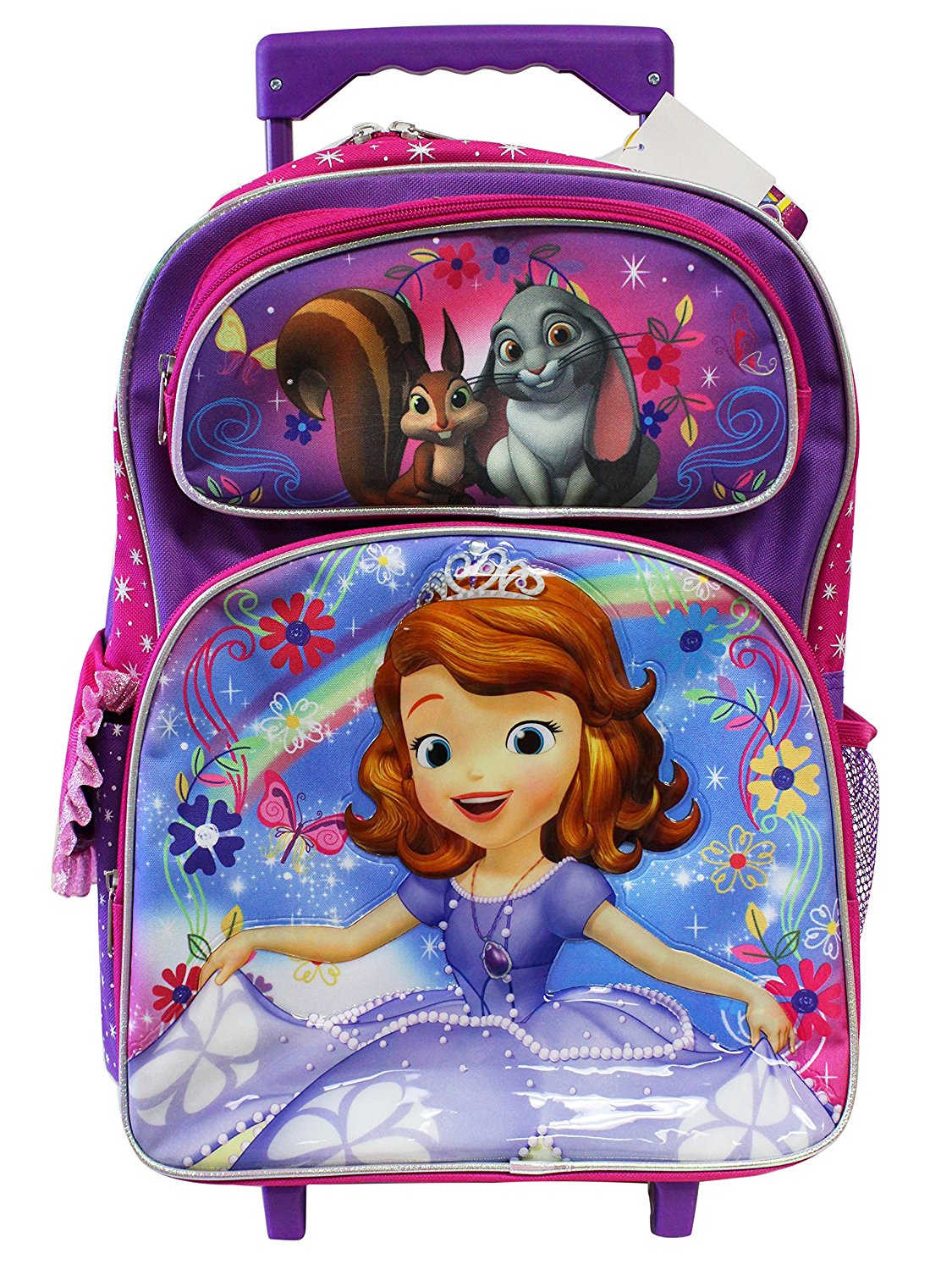 8c593b8e666 Get Quotations · Disney s Sofia The First Rainbow Magic Full Size Rolling  Backpack (16in)