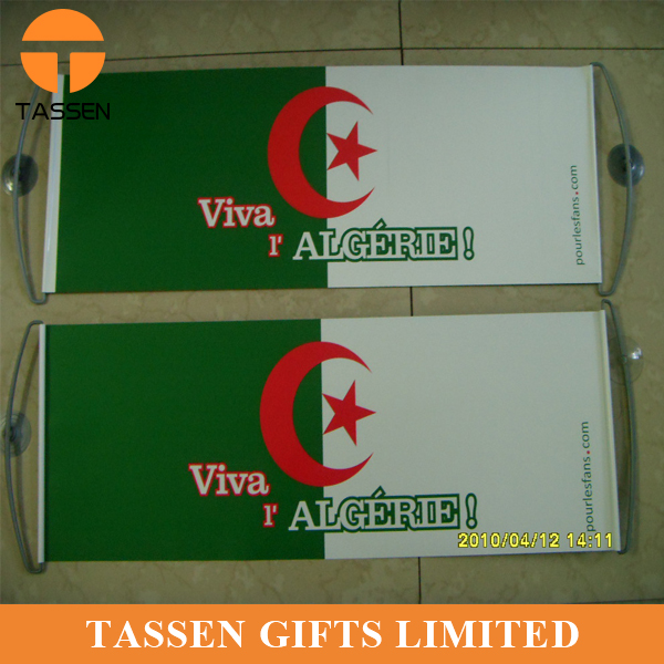OEM national flag banner hand flag customised printing PET flag