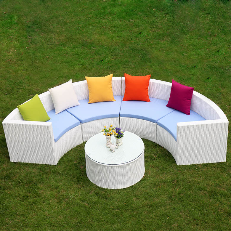 Big Lots White Color Outdoor Sofa Set With Waterproof Cushion Patio