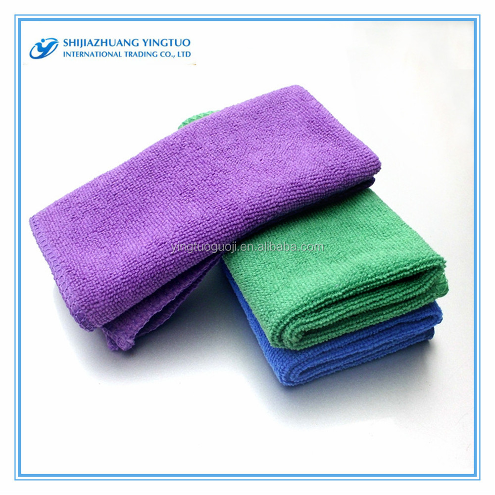 China OEM Top Towels' Manufacture microfiber cleaning cloth in roll microfiber towel