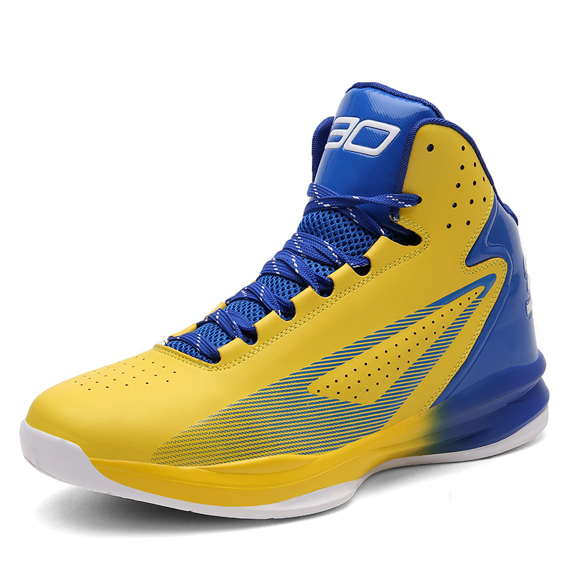 latest anti-collision toe design PU+Gum-Rubber outsole material shoes men basketball, Customized color available